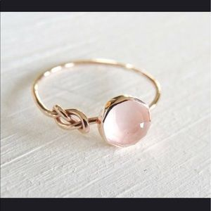 Jewelry - Rose-gold Ring with Pink Moonstone